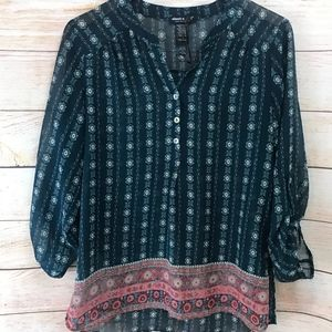 About a Girl Sheer Large Blouse Top